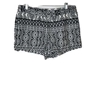 J. Crew  size 10 white and black Aztec Shorts